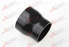 "3ply 2.5"" to 2''inch Straight reducer 76.2mm SILICONE HOSE COUPLER PIPE black"