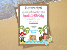 Mermaid & Pirate Invitation DIY Birthday Party UPRINT PERSONALIZED