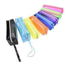 S/L Size Pencil Pen Case Cosmetic Bag Clear Makeup Pouch Zipper Toiletry JX