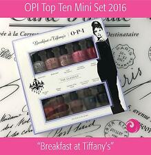 OPI Top Ten Mini Set 2016 Breakfast at Tiffany 10 pcs x 0.125oz (Free Intl Ship)
