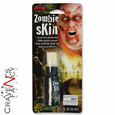 LIQUIDO LATTICE Zombie FAKE SKIN pelle faccia VERNICE Halloween Viso Make Up Adesivo