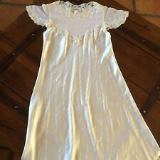 Vintage Satin Bridal Christian Dior NIGHTGOWN GOWN ELEGANT LINGERIE