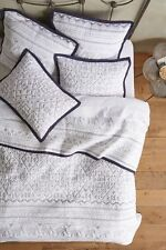 ANTHROPOLOGIE Kuji KING Coverlet Quilt Bedding Blue Elephant FREE SHIPPING NEW