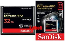Sandisk Extreme Pro 32GB 32G CF 160MB/s Compact Flash Card card Full HD video 4K