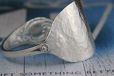 Solid 925 Sterling Silver Vintage Spoon Bangle Bracelet For Her