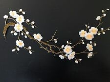 Sew on & iron on  patches(gray & yellow plum flower )