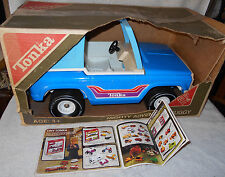 1977 Tonka Bronco Mighty Adventure Buggy Blue Light Blue Roof Near Mint In Box