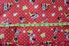 Disney Minnie Mouse Flowers & Dots Fanci Felt Fabric Craft Felt Fabric BTY