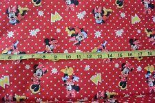 Disney Minnie Mouse Flowers & Dots Fanci Felt Fabric Craft Felt Fabric BTY