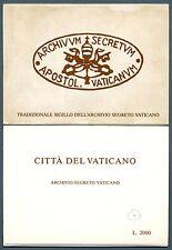 VATICANO - Cart. Post. - 1984 - ARCHIVIO SEGRETO VATICANO - Serie - FDC