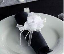 4 Fleurs CAMELIA Tissu Blanc Décoration de Table Mariage Baptême fête