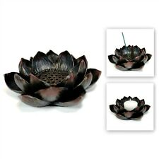 LOTUS INCENSE BURNER & CANDLE HOLDER Blossom Votive HIGH QUALITY Resin Flower
