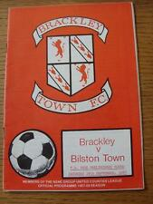 19/09/1987 Brackley Town v Bilston Town [FA Vase] (Item in very good condition,
