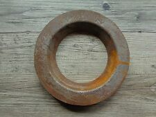 Vtg Industrial Rusty Salvage Cast Iron Collar Ring from Iron Ore Mine Machinery