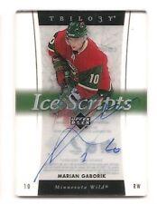 Marian Gaborik 2005-06 Upper Deck Trilogy Ice Scripts Auto Acetate Autograph