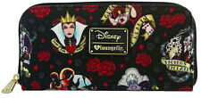 Loungefly Disney Female Villains & Roses Evil Queen Maleficent Cruella Wallet