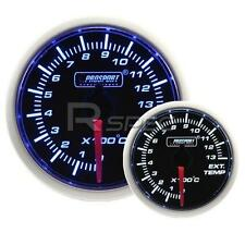 Prosport 52mm Super Smoked Blue / White Exhaust Gas Temperature EGT Gauge