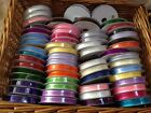 SATIN EDGE sheer organza ribbon -10mm- Var Colours - 10m full reel! 23 SHADES