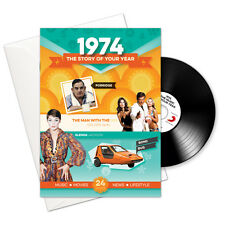 1974 42nd Birthday   Anniversary Gift -1974 4-In-1 Card,Book,CD and Download