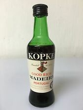 Mignon Miniature Kopke Good Rich Madeira Portugal Dist. By Cinzano 10cl