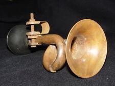 Sammeln alte Einzigartig Altmodisch Rikscha / Fahrrad Lautsprecher, Kupfer Horn