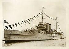 """""""Croiseur anglais LONDON (CRÊTE 1931)"""" Photo originale G.DEVRED (Agce ROL)"""