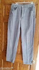 Calvin Klein Vintage 70s 80s High Rise Grey Gray Denim Jeans 14 Made in USA