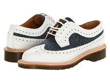 Dr. Martens Women`s 3989 MIE White Blue Brogue US 10 EU 42 UK 8 Retail $320