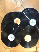"""Job lot of 45 12"""" vinyl LP records for up-cycling crafts artwork Free UK Post"""