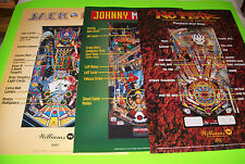 "(3) Original Williams NOS Pinball Machine 32"" X 24"" Posters JackBot No Fear + JM"