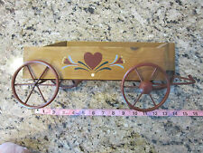 Primitive Country Folk Art Wooden Western Wagon Wall Hanging Decor Mail Holder