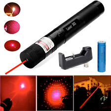 Military Red Laser Pointer Pen G303 650nm Burning High Power Lazer+18650+Charger