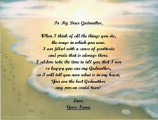 Christmas Gift/ Birthday Gift For Godmother Personalized Poem Gift Footprints