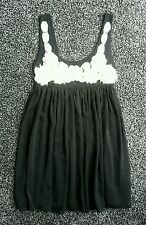 Lovely ladies size 12 'Asos' black dress with ivory 3D flowers.