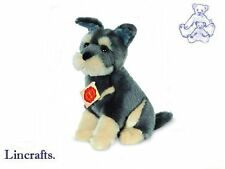 Sitting Schnauzer Puppy Plush Soft Toy Dog by Teddy hermann Collection. 92783