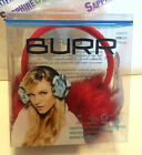 BURR ARTICK SOUNDS FUR EARMUFF w/ Integrated Speakers. RED. BRF130020 New!