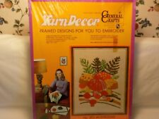 MUSHROOMS YARN DECOR BY GENERAL CRAFTS FRAME INCLUDED NEW