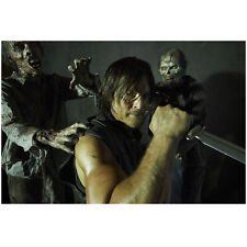Norman Reedus in The Walking Dead as Daryl with Knife Zombies 8 x 10 Inch Photo