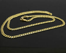 14carat Yellow Gold 19 Inch Diamond Cut Curb Chain 3mm Width