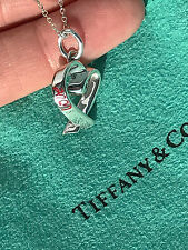 Tiffany & Co Paloma Picasso Sterling Sliver Loving Heart Charm Pendant Necklace