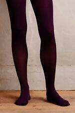 NEW ANTHROPOLOGIE SIZE S/M Small Medium Pure + Good Opaque Tights Purple NWT