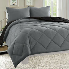 Empire 3pc Reversible Comforter Set Microfiber Quilted Bed Cover Twin Full Queen