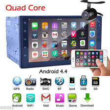 2Din Android 4.4 In Dash Car Stereo GPS Navi WIFI -3G BT Quad Core 7'' Radio+CAM