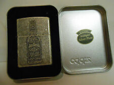 Zippo Jim Beam Antique Silver Plate Retired w/Tin Box~ Made in the USA