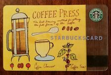 STARBUCKS COLLECTIBLE GIFT CARD 2003 - COFFEE PRESS - RARE! FREE SHIPPING!