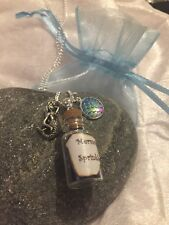 ❤️Mermaid Sprinkles Charm Bottle Necklace Pendant Stocking Filler Gift Christmas