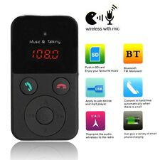 Coche Bluetooth Manos Libre Transmisor FM SD/TF Reproductor MP3 WMA USB Mechero