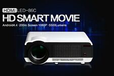 5500lumens Android HD LED Wifi Smart Projector 3D Home theater WIFI Bluetooth 8G