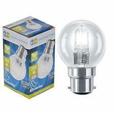 5 x Eco Halogen Energy Saving Golf Balls Light Bulbs 28w = 40w Bayonet B22 Cap