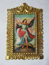 Handpainted Neiman's Horchow Retablo Painting in Wood Frame Angel/Christmas